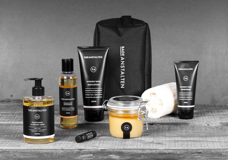Selection of products with a fresh citrus scent