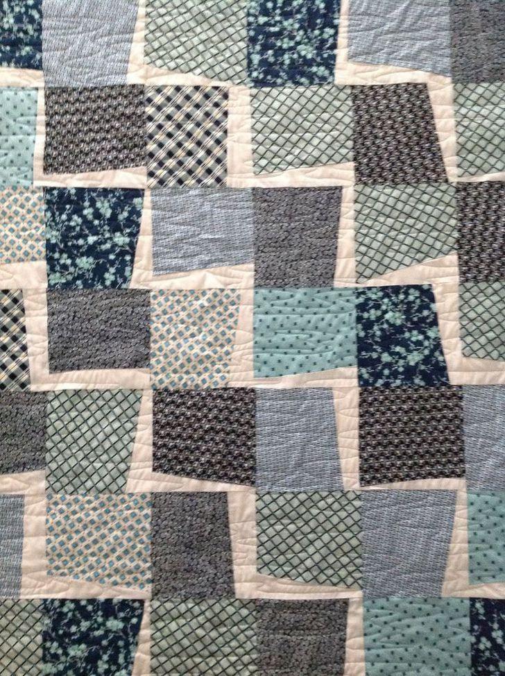 Lightening Wonkie Quilt....Love using Denise Schmidt Fabric..Pigeon Sister Project