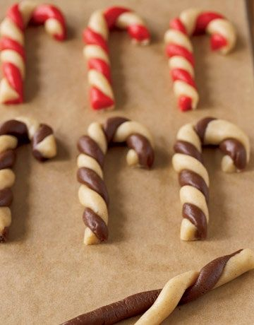Sugar Cookie Dough Peppermint Stick Cookies. Pinned by The Jenny Evolution.