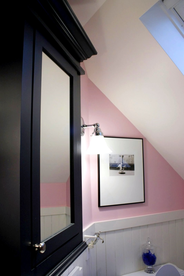 Pink bathroom suite - Bathroom Done In Ballet Pink Charcoal And White The Official Colors Of The Master