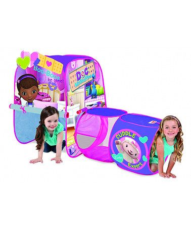 LIAM'S FAVORITE !! Says Cuddle Expert and Boo-boos Be Gone !! Has a waiting room !! Doc McStuffins Discovery Play Tent by Playhut, $25 !!