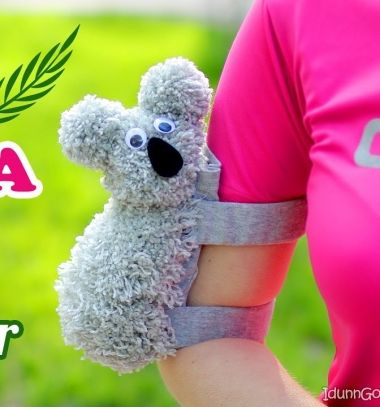 This brillian armband phone case that looks like koala! If you don't have pockets to put your phone in and you don't want to take your bag – this cute Koala arm phone holder will help you for sure! This adorable DIY armband phone case is perfect for running, cycling, jogging, riding, skating etc. So let this fluffy DIY koala hug your arm and carry your phone! Important tip about measurements: Measure the circumference