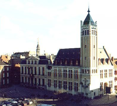 Town Hall and Belfry on the Great Market Square, Roeselare, Flanders Region, Belgium