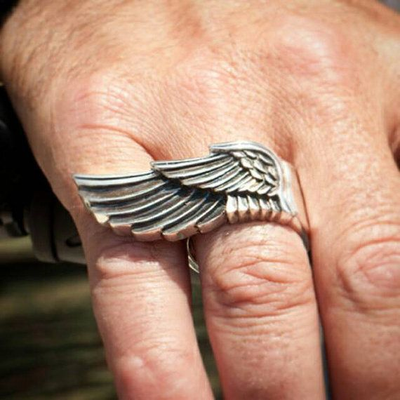 wing ring sterling silver 925