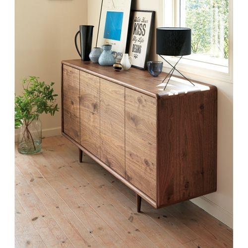 Pollan(ポラン) リビングボード ウォルナット サイドボード 幅160cm|家具収納・インテリア雑貨専門 通販のハウススタイリング(house styling)