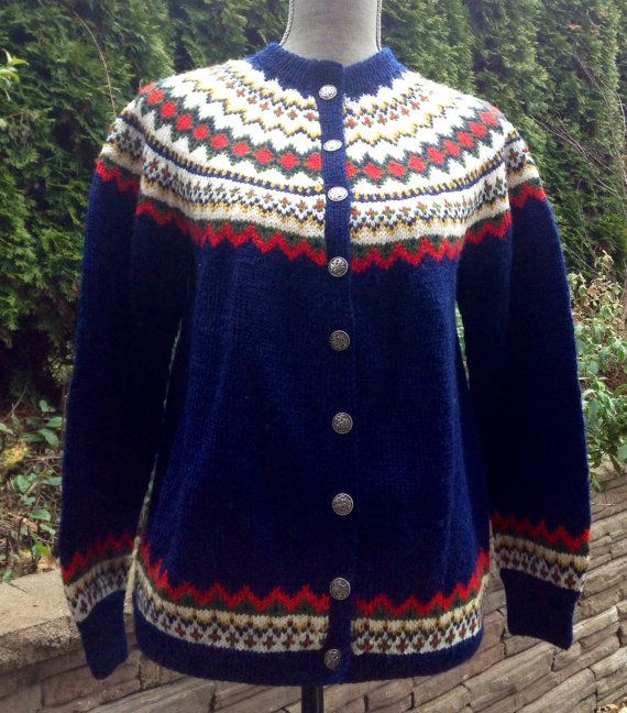 Fair Isle Norwegian wool sweater by Norsk