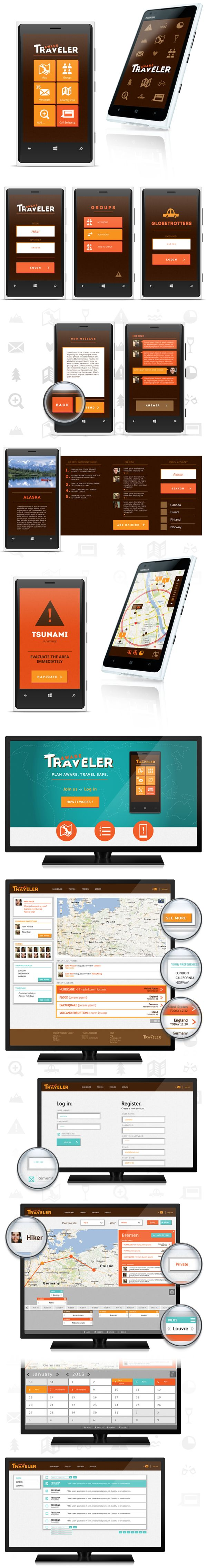 mobile app flat design