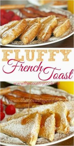Fluffy French Toast recipe from The Country Cook. No more soggy french toast! This is like the best diner style french toast that anyone can make and it turns out perfect every time! #EBeggs #ad #NationalEggMonth