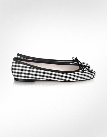 Black and White Check flats...seems like there have been a lot of checked flats