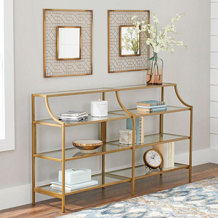 Better homes gardens nola console table gold finish