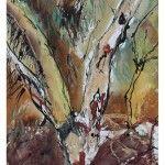 Denis Clarke - BMX Tree - Mixed Media 38cm x 29cm