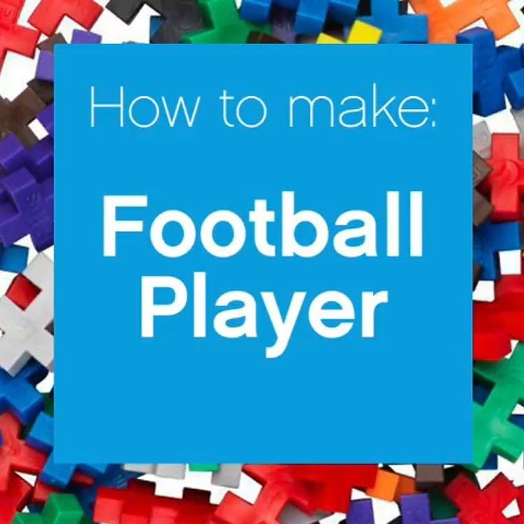 """We're launching a weekly """"how to"""" series on #YouTube starting with a #football player. Get ready for a weekend of cheering on your team by building one in their colors. Link in profile! #oneshape #plusplus #plusplustoy"""