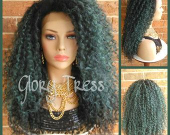 ON SALE // Long Wavy Lace Front Wig 100% Human Hair von GloryTress