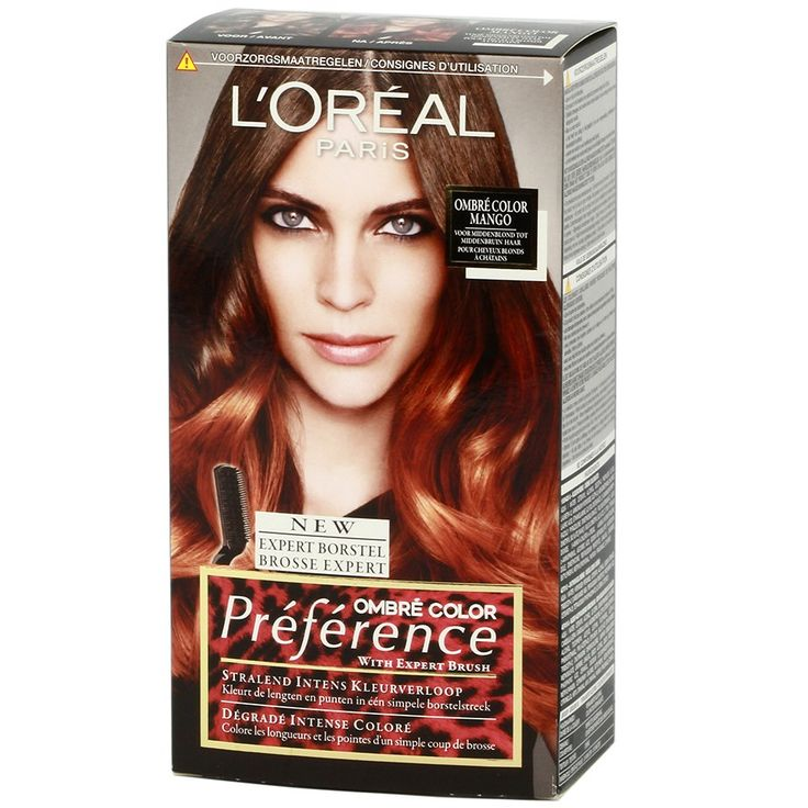 Loreal Preference 7.4 Ombre Color Mango - https://www.transfashions.com/en/beauty-health/hair-care/hair-colors/loreal-hair-colors/preference-ombre/loreal-preference-7-4-ombre-color-mango.html Ombre is a nice, gradual gradient from the base of the #hair lengths and ends. With Preference Ombres you create this hair color look now easily...