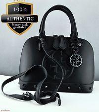 Guess Ladies Handbag Genuine Satchel Tote New Bag Black Korry Authentic