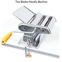 الفولاذ المقاوم للصدأ 2 شفرات المعكرونة صنع آلة دليل المعكرونة المعكرونة صانع المعكرونة اليد مشتغل السباغيتي القاطع مع الشحن شماعات(China (Mainland))