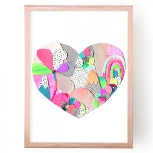Candy Land Heart Art Print by Laura Blythman - shop laura blythman art online