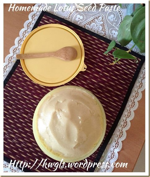 home made lotus paste