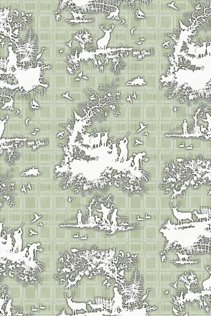 Timorous Beasties Wallcoverings - Classic Hunt wallpaper
