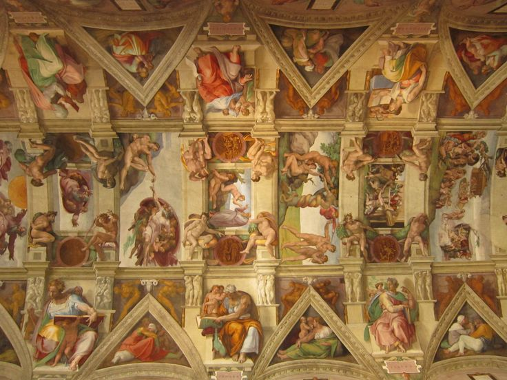 The Sistine Chapel by Michelangelo #SistineChapel #Vatican #Michelangelo