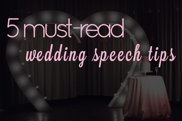5 must-read wedding speech tips + a handy wedding speech guide. by Something Special Photo Booth