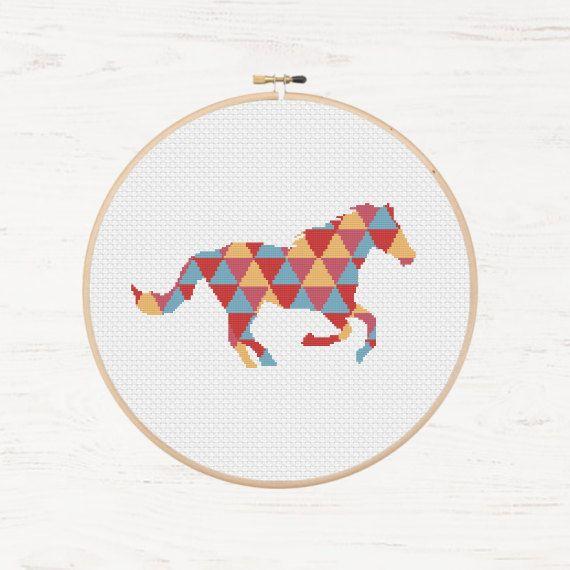 Horse Cross Stitch Pattern Pony Instant Download door Stitchonomy