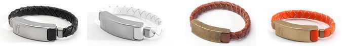 Kyte And Key Cabelet USB - Lightning Cable Bracelet - Colors - White, Black, Orange, Brown