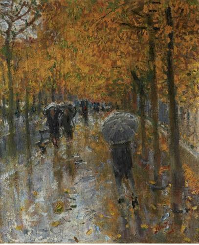 L'automne à Neuilly by Pierre Eugène Montezin, c.1940-46