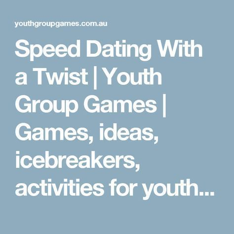 Youth ministry dating