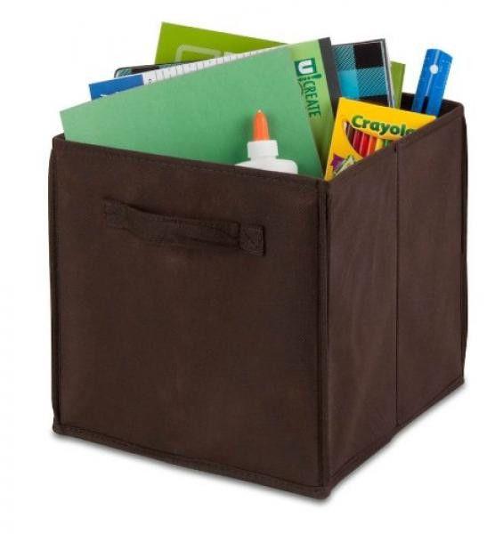 """Kids Storage Bin - Chocolate / Non Woven / (11.4""""L x 10.6""""W x 10.6""""H)"""