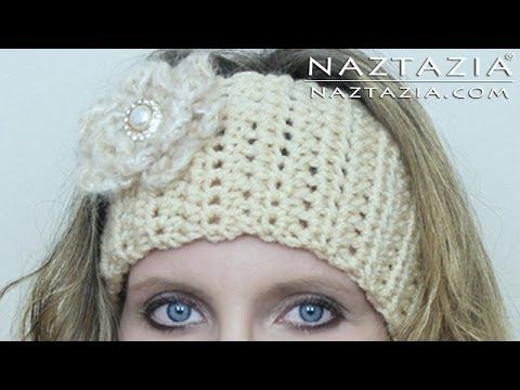 Learn How to Crochet Easy Head Band Wrap with Flower (Headband Headwrap Headscarf) - YouTube