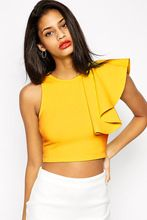 Fashion summer tops 2015 Black Yellow One-shoulder  best buy follow this link http://shopingayo.space
