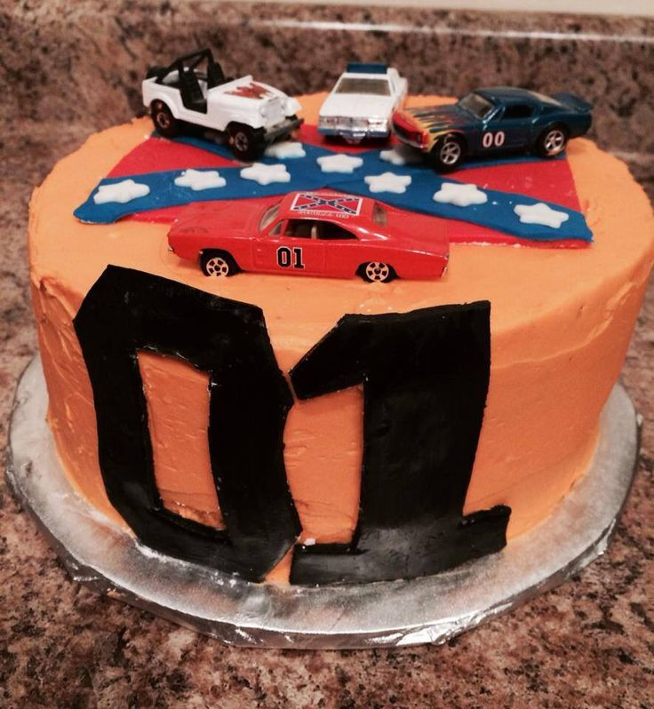 Confederate Flag Wedding Cakes Dukes Of Hazzard Birthday Cake By Fancy Schmancy Sweets