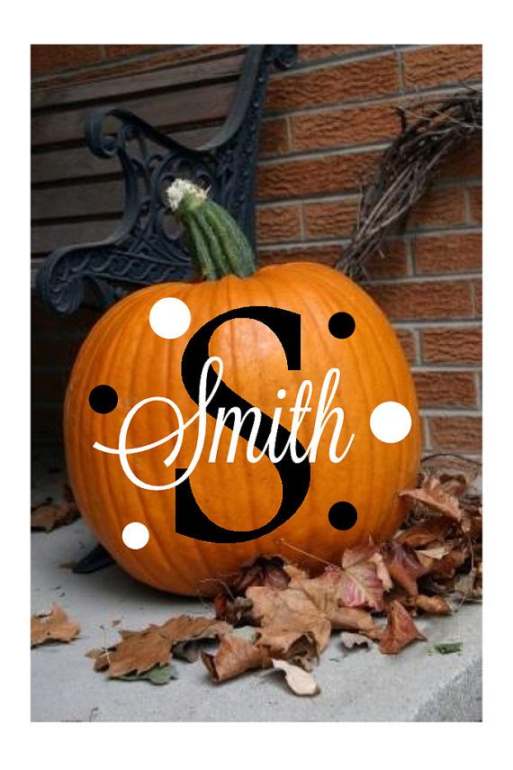 monogram family name halloween vinyl decal set no craving pumpkin ideas - Halloween Name Ideas