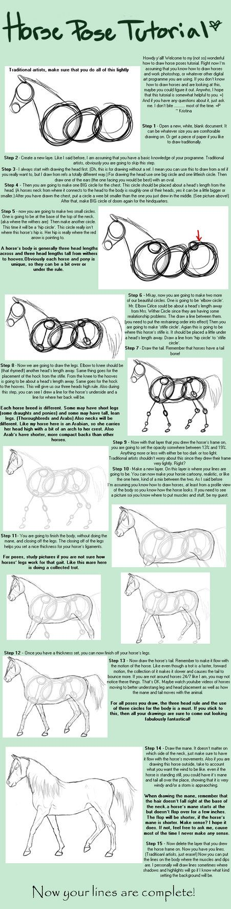 Hey Guys, Here's A Tutorial For You That'll Hopefully Help Anyone Who Is  How To Draw Horsesdrawing