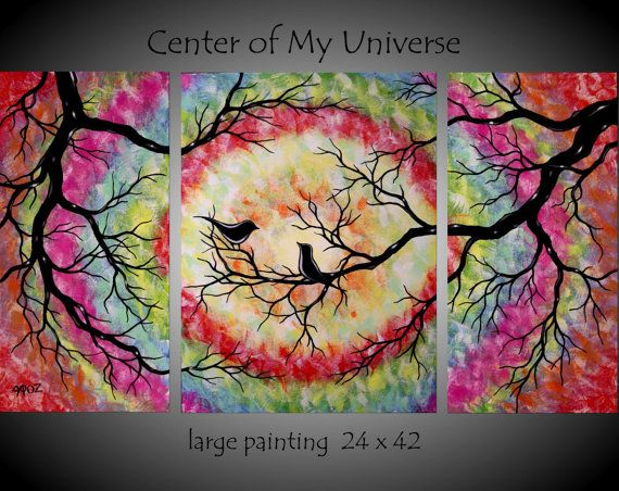 Abstract Tree Paintings Black And White Google Search Home Love Birds With Of