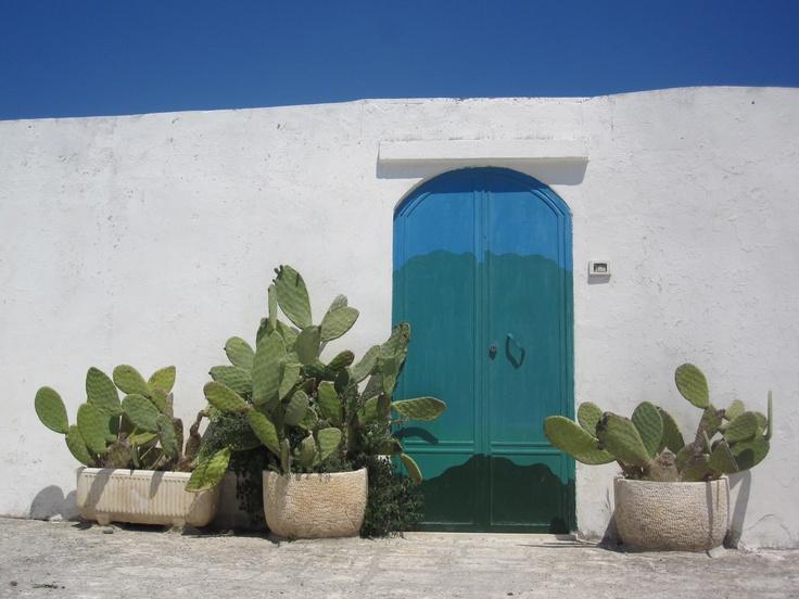 The magical colors of Ostuni in Puglia, Italy