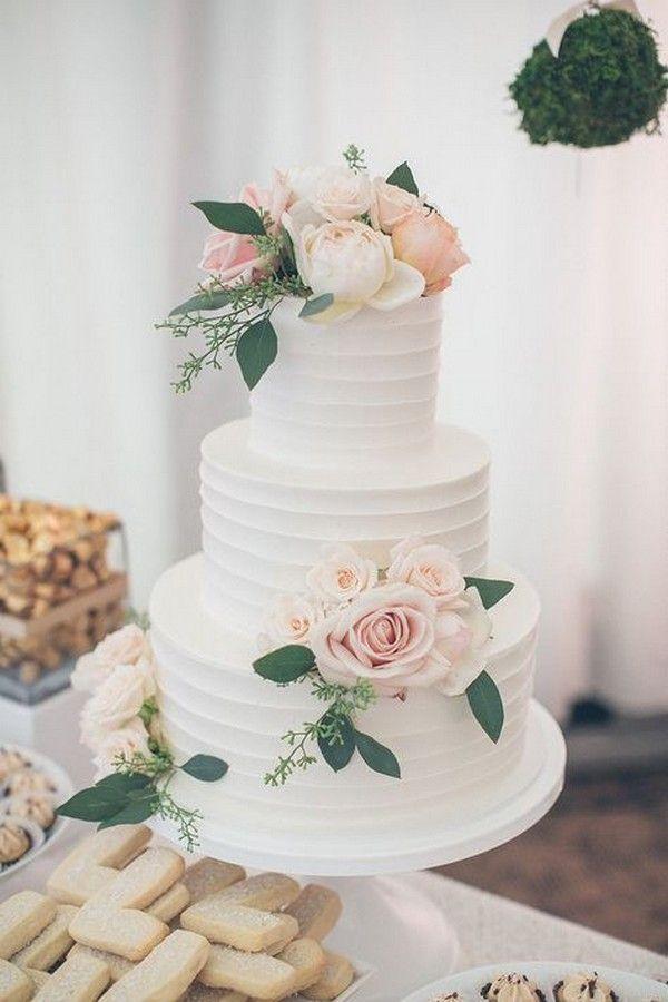 rosa weiße und grüne Frühlingshochzeitstorte   – Wedding cakes