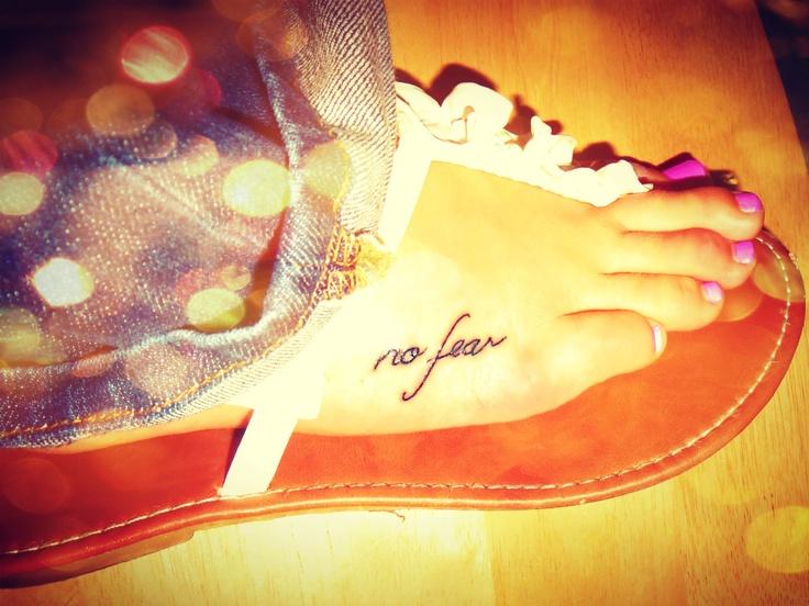 No fear tattoo