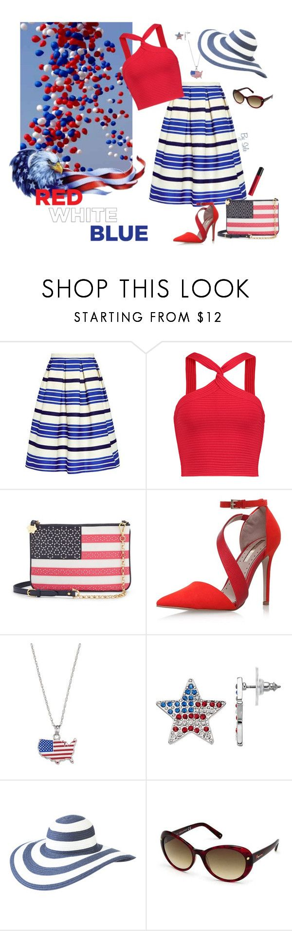 """Red, White & Blue: Celebrate the 4th! - Classic Elegance"" by selene-cinzia ❤ liked on Polyvore featuring Paul & Joe Sister, T By Alexander Wang, Draper James, Miss KG, LogoArt, Columbia, Dsquared2, NYX and fourthofjuly"