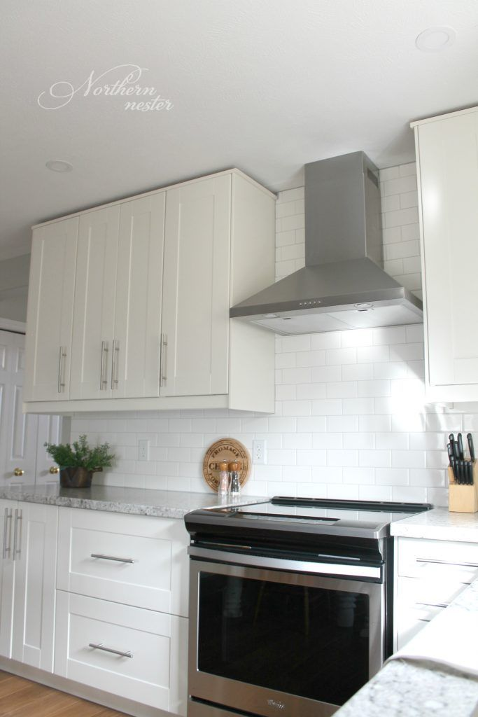 An Ikea Kitchen Reno Before After With Grimslov Cabinets Lansa Handles White Subway Tile And A Bit Of Farmhouse Flare