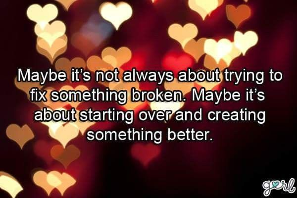 relationship and starting over