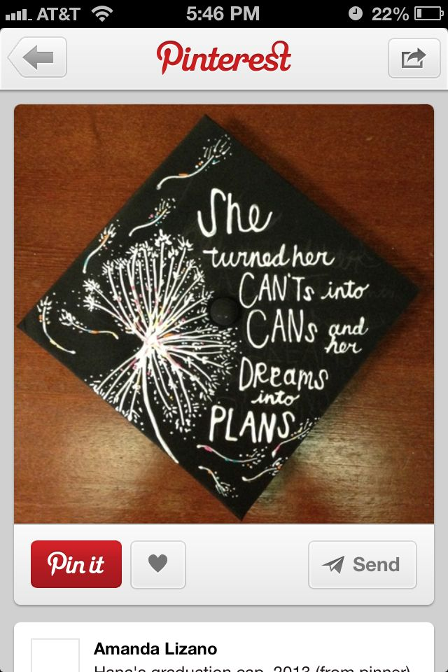 I wanna do this with my cap SOOOOO bad but my college won't let us! I think I deserve a right to decorate my cap! Ive been through hell and back with classes, money, time, etc. I'm gonna decorate mine with camo and pink! But idk how to do it /: any ideas!? Comment below!!