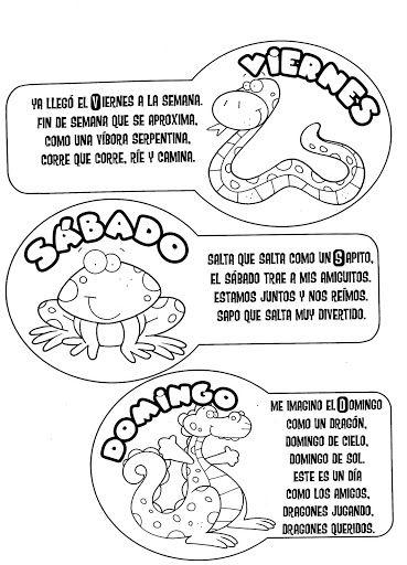 DIAS DE LA SEMANA CON POESIA - Seño Mónica - Álbumes web de Picasa