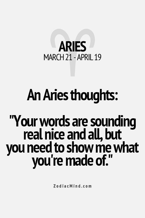 Aries traits.
