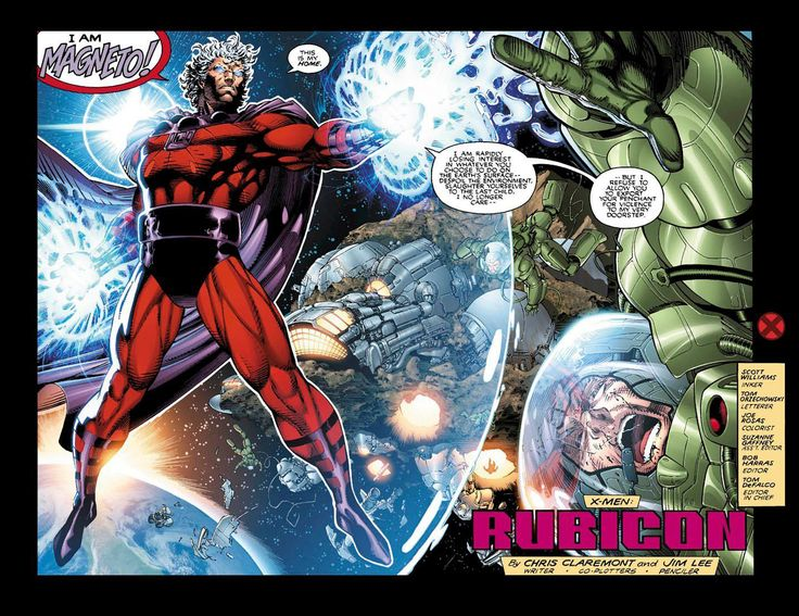 X Men Interior Art Feat Magneto V Astronaughts By Jim Lee