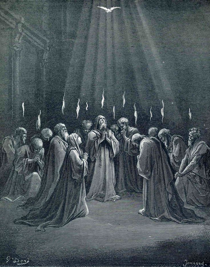 The Descent Of The Spirit - Gustave Dore - WikiArt.org