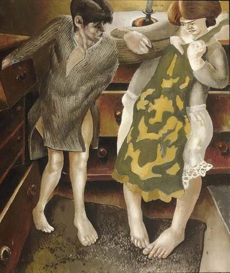 """Choosing a Petticoat"" (1936), by Stanley Spencer"