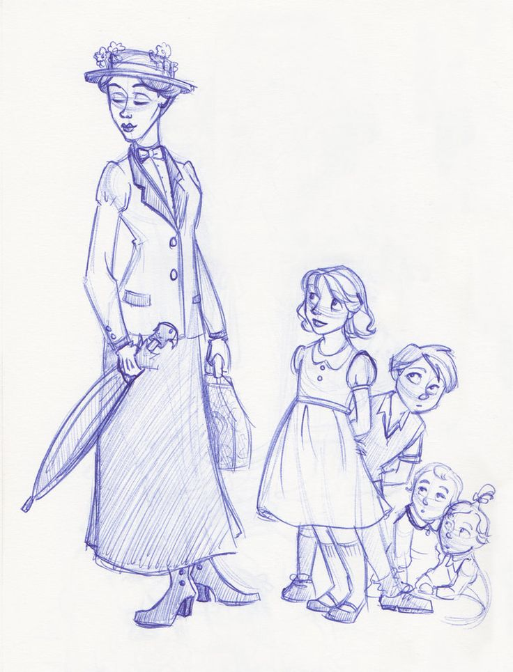 Poppins and Her Young Charges by *kuabci on deviantART