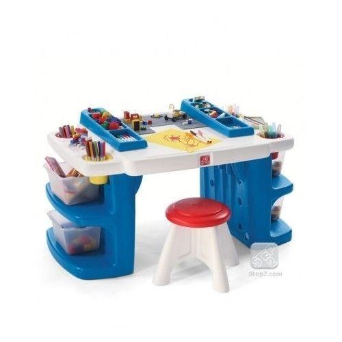 Step  Lego Mega Blok Building Blocks Table With Storage